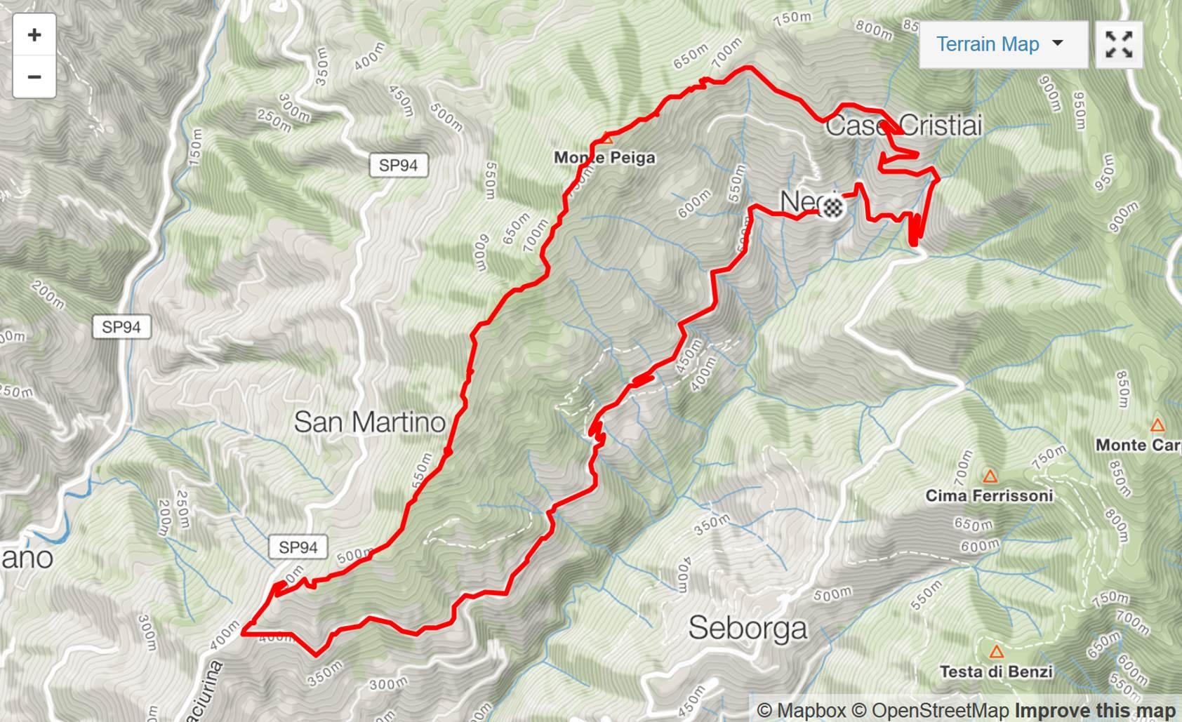 Kart Mt Peiga